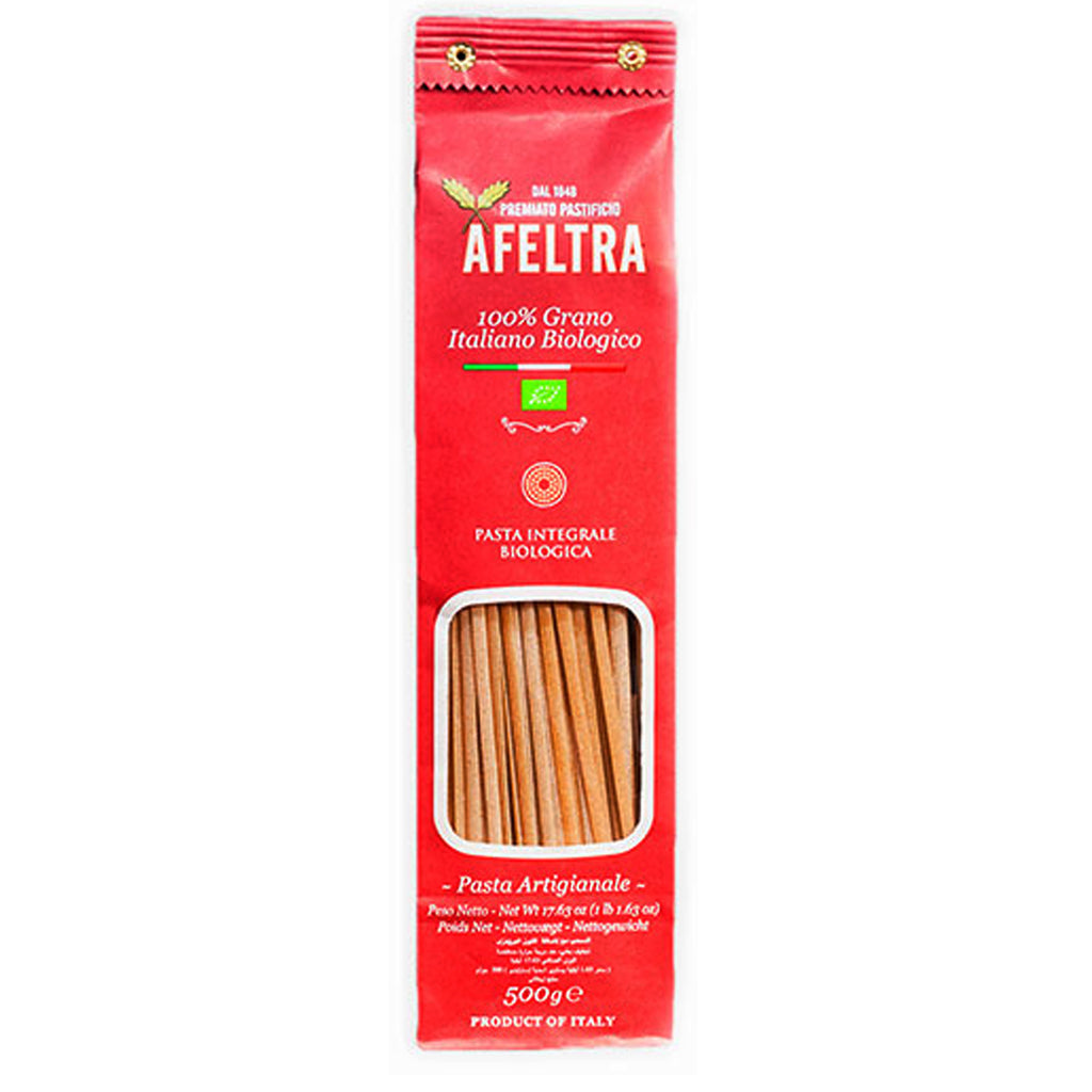 Afeltra Linguina Integrale Biologica 100% Grano Italiano - Organic Whole Wheat Linguini Pasta