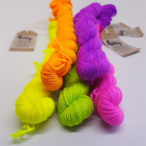 Deal With It 20g Mini - Platinum Sock - Superwash Merino Nylon - Fingering weight yarn