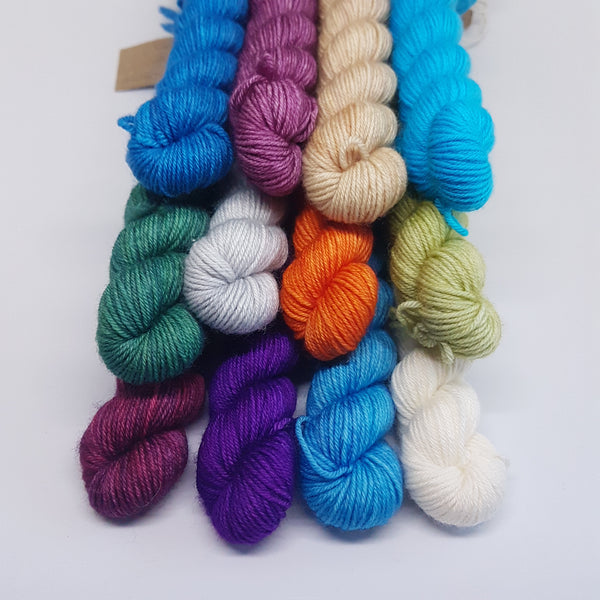 Turquoise 20g Mini - Platinum Sock - Superwash Merino Nylon - Fingering weight yarn