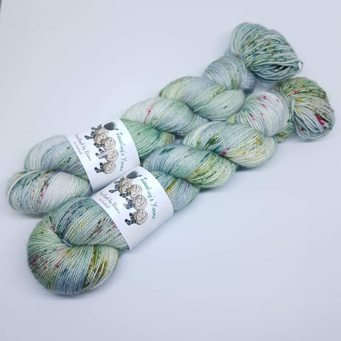 Winter Memories - Sparkle Sock - Superwash Merino Nylon Stelina - Fingering weight yarn