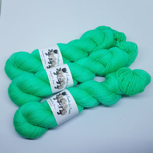 Spare Mint - Sparkle Sock - Superwash Merino Nylon Stelina - Fingering weight yarn