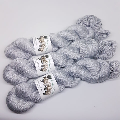 Steel - MerinoSilk 4ply - Merino Silk - Fingering weight yarn