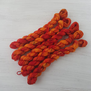 Piri-Piri 20g Mini - Platinum Sock - Superwash Merino Nylon - Fingering weight yarn