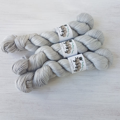 Moonstone - MerinoSilk 4ply - Merino Silk - Fingering weight yarn
