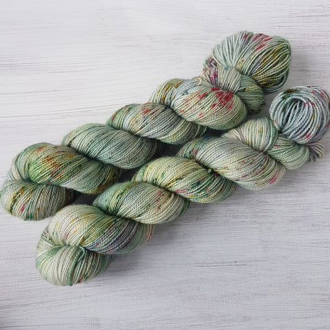 Winter Memories - BFL Twisty Sock - Superwash BFL Nylon - Fingering weight yarn