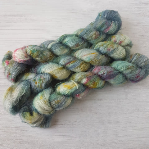 Winter Memories - SuriSilk Lace - Baby Suri Alpaca Silk - Lace weight yarn