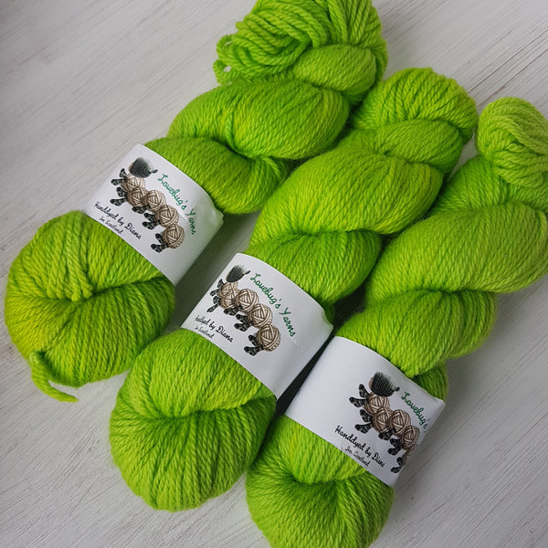 Green Fairy - BFL Aran (discontinued) - Bluefaced Leicester wool - Aran weight yarn