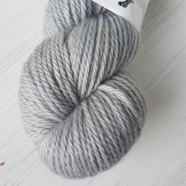 Steel - BFL Aran (discontinued) - Bluefaced Leicester wool - Aran weight yarn