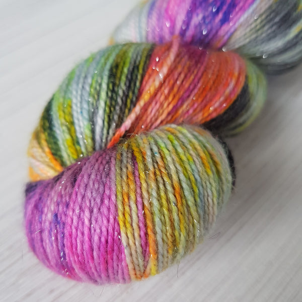 Colour Outside the Lines - Sparkle Sock - Superwash Merino Nylon Stelina - Fingering weight yarn