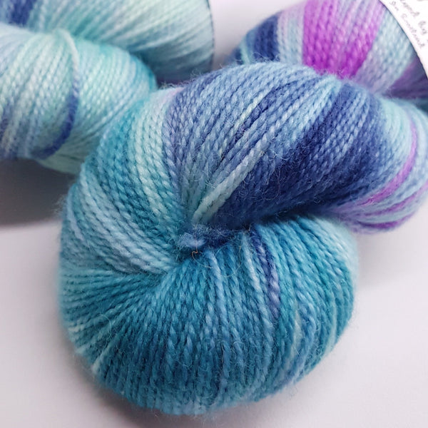Garden Planted by the Sea - BFL Twisty Sock - Superwash BFL Nylon - Fingering weight yarn