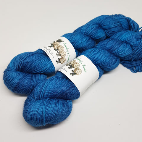 Sapphire - Platinum Sock - Superwash Merino Nylon - Fingering weight yarn