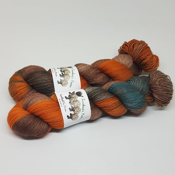 Sandalwood - Platinum Sock - Superwash Merino Nylon - Fingering weight yarn
