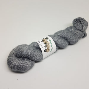 Steel - Sparkle Sock - Superwash Merino Nylon Stelina - Fingering weight yarn