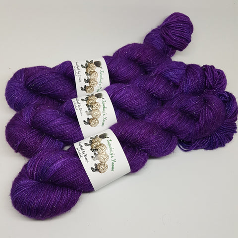 Amethyst - Sparkle Sock - Superwash Merino Nylon Stelina - Fingering weight yarn
