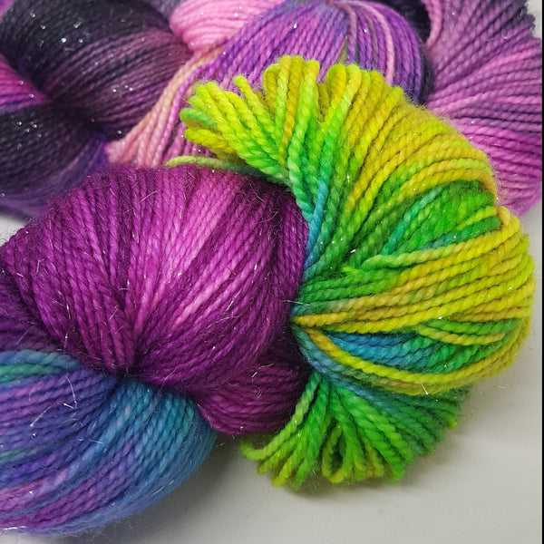 La Catrina - Sparkle Sock - Superwash Merino Nylon Stelina - Fingering weight yarn