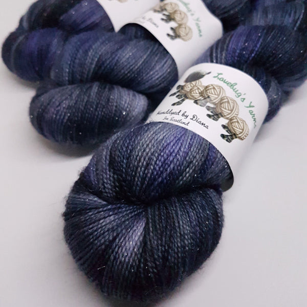 Colour of Storms - Sparkle Sock - Superwash Merino Nylon Stelina - Fingering weight yarn