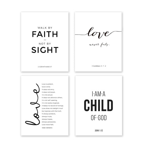 Affirmation Unframed Canvas Poster Collection