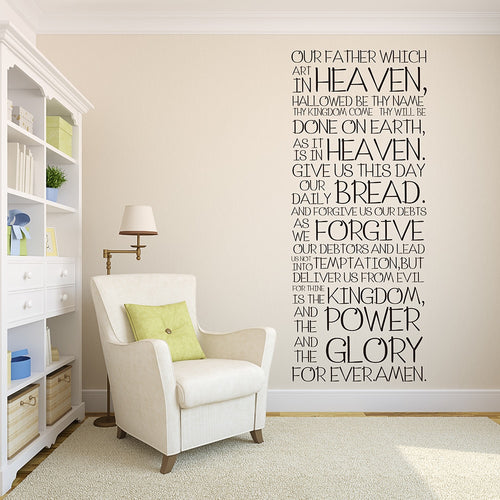 The Lord's Prayer Bold Wall Vinyl
