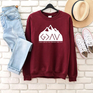 God Is Greater Than the Highs and Lows Mountaintop Sweatshirt
