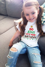 Load image into Gallery viewer, Jesus Birthday Christmas Tshirt