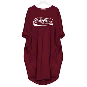 2021 Never Thirst Jesus Comfort Dress with Pockets