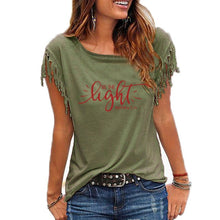 Load image into Gallery viewer, Matthew 5:14 Cowgirl Shirt