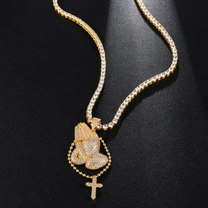 18K Gold or .925 Silver Plated Prayer Works Chain