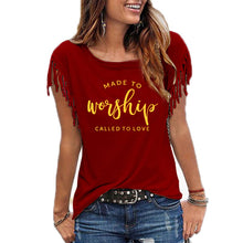 Load image into Gallery viewer, Made For Worship and Love Cowgirl Summer Shirt