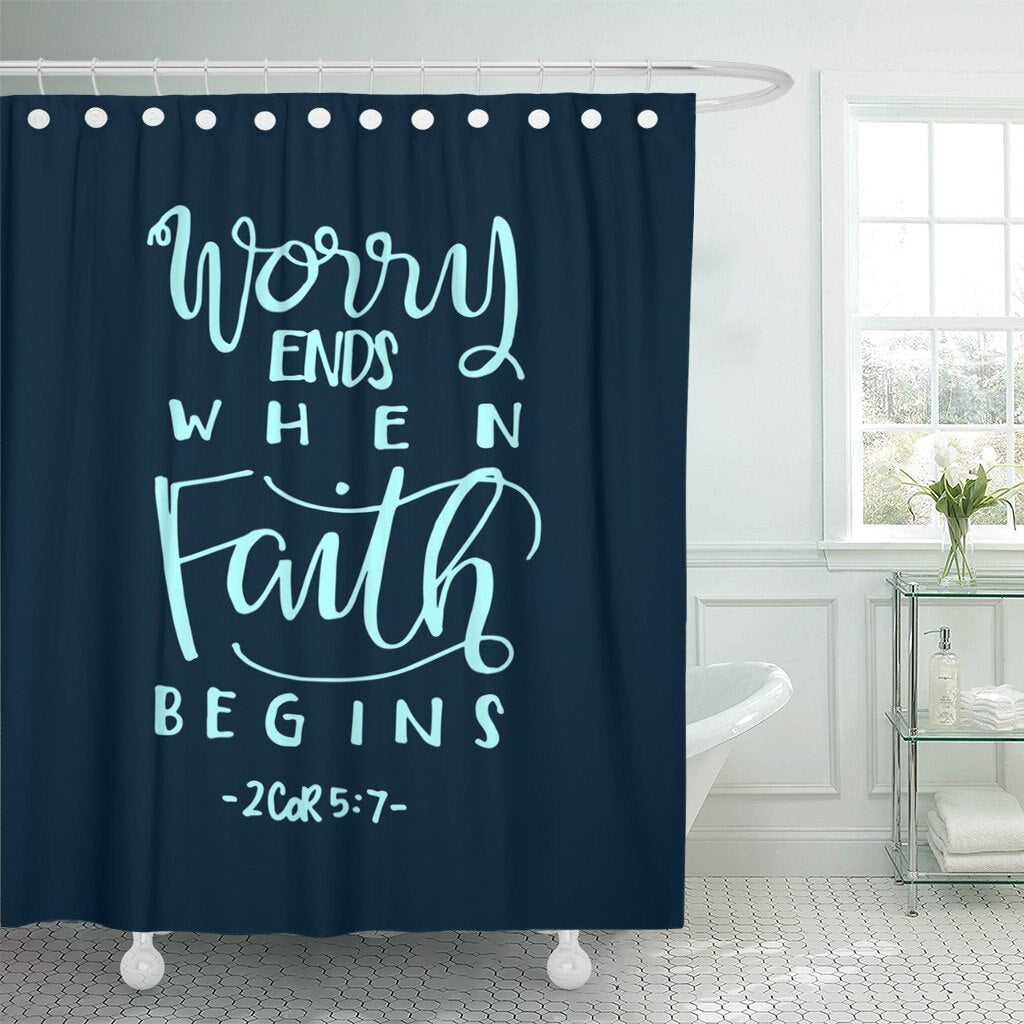 2 Corinthians 5:7 Shower Curtain