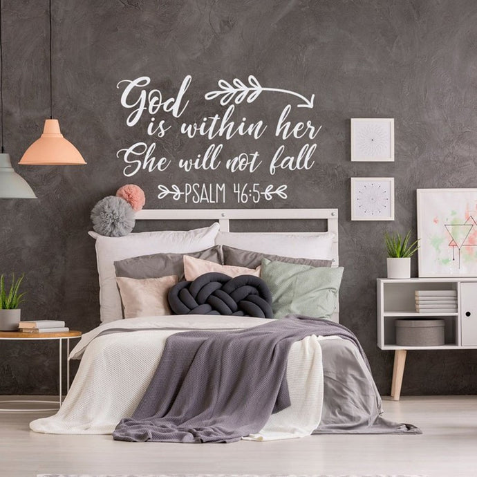 Psalm 46:5 God Is Within Her Wall Decor