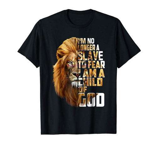 Lion of Judah No Longer a Slave to Fear Tshirt