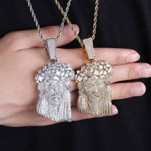 Load image into Gallery viewer, 18K Gold or .925 Silver Plated Jesus Piece With Chain Necklace
