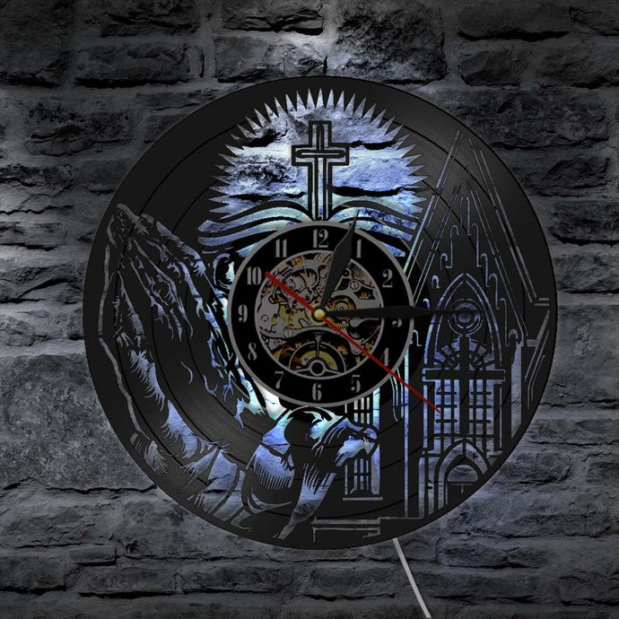 Light Of Christ Custom LP Clock
