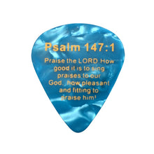 Load image into Gallery viewer, Bible Verse Pick Jesus Guitar Picks (lot of 100)