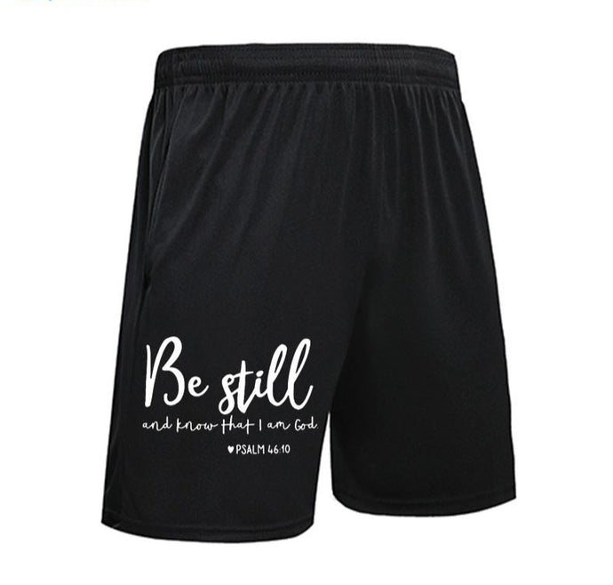 Psalm 46:10 Basketball Shorts