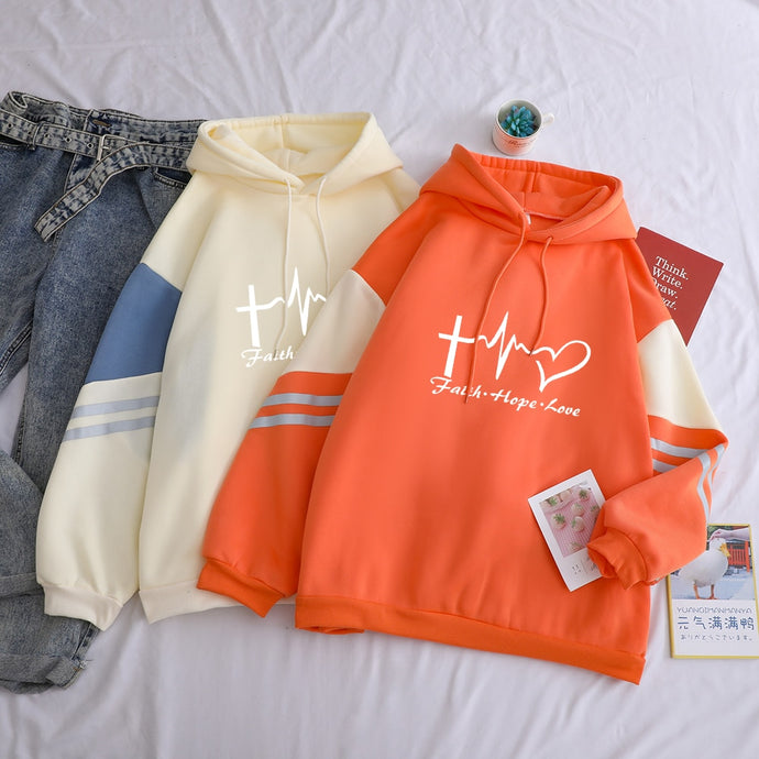 Faith Hope Love Pastel Fall Hoodie