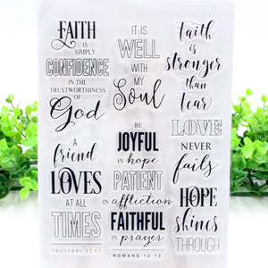 Faith is Simply Confidence in the Trustworthiness of God Stamp Collection