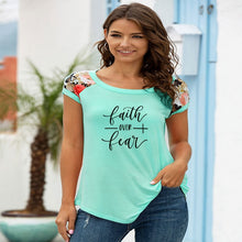 Load image into Gallery viewer, Faith Over Fear Short-sleeved Fashion Tshirt