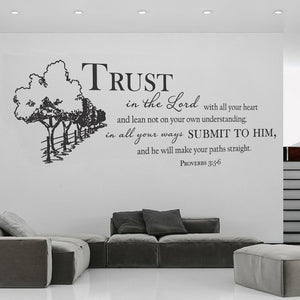 Proverbs 3:5-6 Wall Vinyl