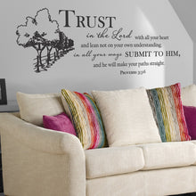 Load image into Gallery viewer, Proverbs 3:5-6 Wall Vinyl