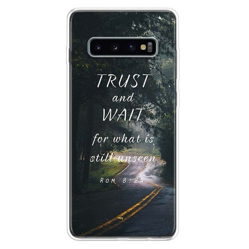Trust And Wait Samsung Galaxy Phone Case