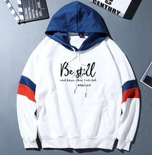 Load image into Gallery viewer, Be Still Psalm 46:10 Collegiate Hoodie