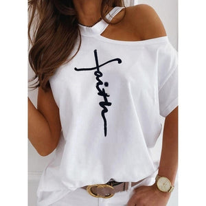 Faith Open Shoulder Spring Fashion Top