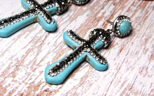 Load image into Gallery viewer, Acrylic Vintage Cross Earrings