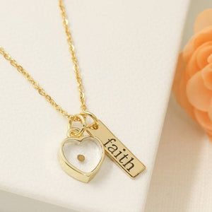 18K Gold Plated Faith and Love Necklace