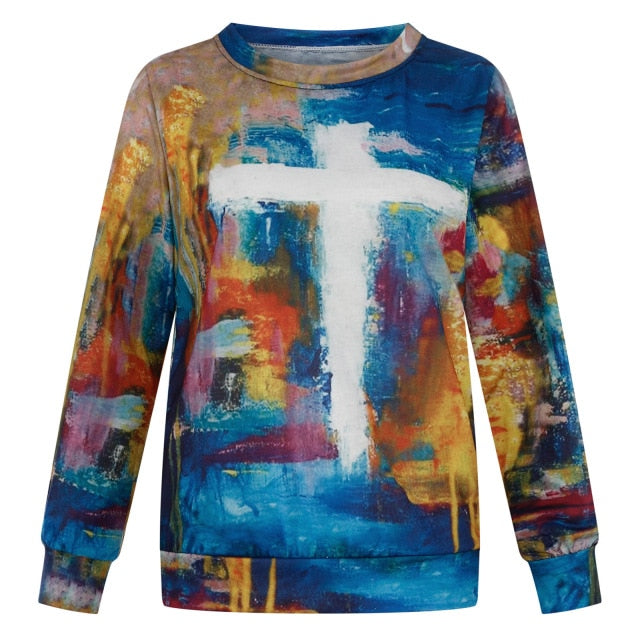 Paint Stroke Image and Likeness of A Creator Sweater
