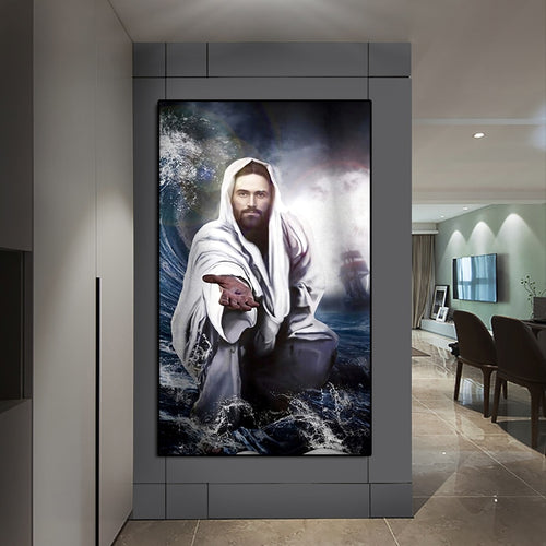 Jesus Saves Cloth Canvas Unframed Poster