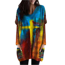 Load image into Gallery viewer, Paint Stroke Image and Likeness of a Creator Comfort Sweater with Pockets
