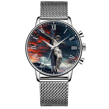Load image into Gallery viewer, Jesus Our Savior Stainless Steel Quartz Men's Watch