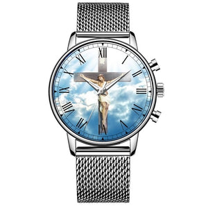 Jesus Our Savior Stainless Steel Quartz Men's Watch